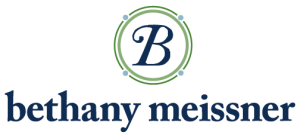 Bethany Meissner, includes logo with blue B in two green circles